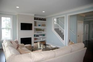 A seating area at Sandy Side Up Four-Bedroom Home
