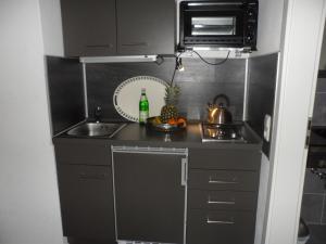 Küche/Küchenzeile in der Unterkunft Buntes Moor