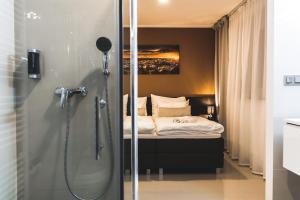 Koupelna v ubytování SILESIA Apartment