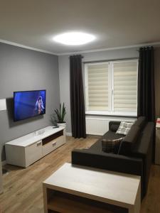 Telewizja i/lub zestaw kina domowego w obiekcie Apartament STUDENCKA