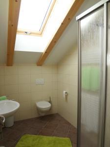 Ein Badezimmer in der Unterkunft Ritzhof