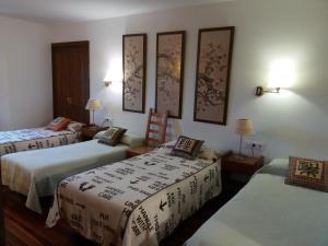 Cama o camas de una habitación en Casa Rural Erletxe