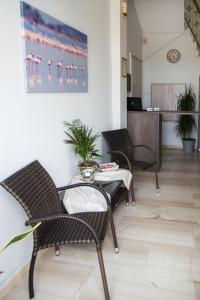 The lobby or reception area at Galazio Limani - Rooms to let