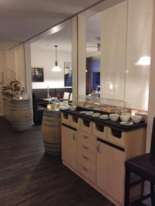 Küche/Küchenzeile in der Unterkunft Landgasthof Struckum