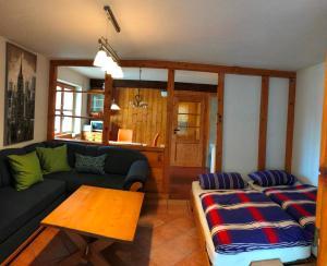Ein Sitzbereich in der Unterkunft Ferienhaus Beckmann