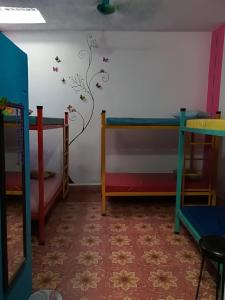 A bunk bed or bunk beds in a room at Hostel La Casa del Tio Rafa