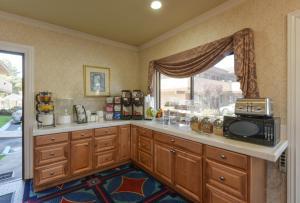 A kitchen or kitchenette at Hotel Elan