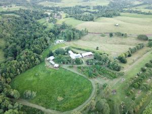 A bird's-eye view of Mena Creek Flower House