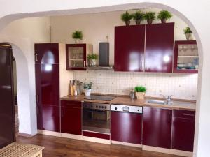 A kitchen or kitchenette at Villa Christina