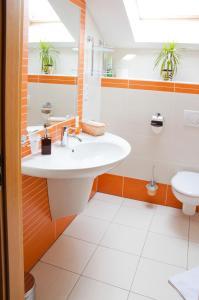 Koupelna v ubytování Penzion Krásný sklep