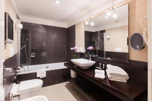 Um banheiro em Hotel De Petris