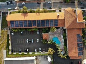 Uma vista aérea de Gandini Hotel