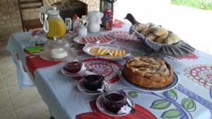 Opções de café da manhã disponíveis para hóspedes em Sitio Terravida
