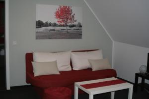 Ein Sitzbereich in der Unterkunft Landhaus Elbeflair bei Dömitz