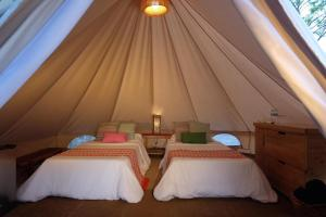 A bed or beds in a room at Sumilon Bluewater Island Resort