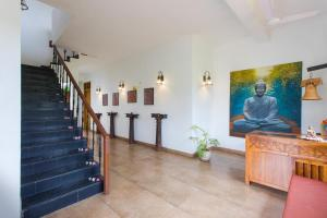 The lobby or reception area at Heritage Resort Hampi