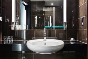 A bathroom at The Hoxton, Shoreditch