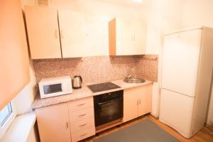 Кухня или мини-кухня в Apartment on Dorozhnaya