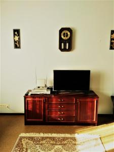 A television and/or entertainment center at Irina Apartment