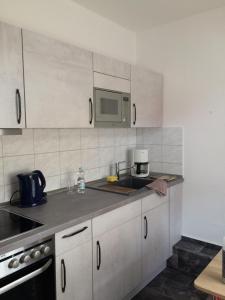 Küche/Küchenzeile in der Unterkunft Ferienwohnung Lilly