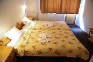 Ένα ή περισσότερα κρεβάτια σε δωμάτιο στο Family Hotel Bisser