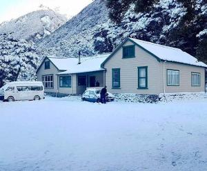 YMCA Arthur's Pass Outdoor Education Centre during the winter