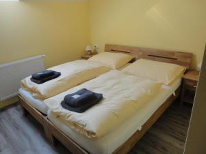 Postel nebo postele na pokoji v ubytování Jakubův Nový Dvůr