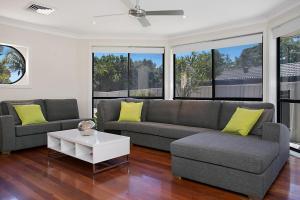 A seating area at 'Seachange' stunning home & sleeps 10!