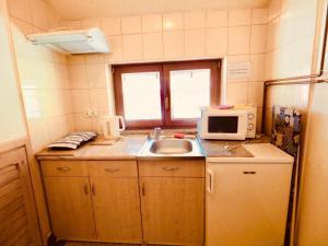 Kuchnia lub aneks kuchenny w obiekcie Apartament w Pieninach