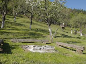 A garden outside Oma's Hutte