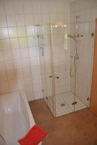 Ein Badezimmer in der Unterkunft Adebarsoase