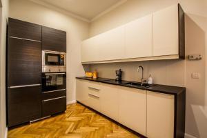 Küche/Küchenzeile in der Unterkunft Vojtesska Apartment By Ruterra