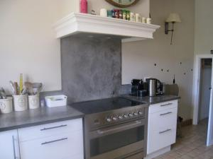 A kitchen or kitchenette at Luxurious Villa in Salernes with a Pool