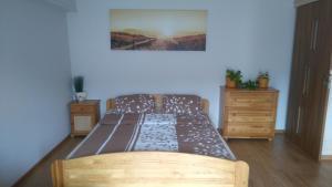 Łóżko lub łóżka w pokoju w obiekcie Noclegi w Pieninach