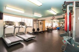 The fitness center and/or fitness facilities at Sandman Suites Vancouver on Davie