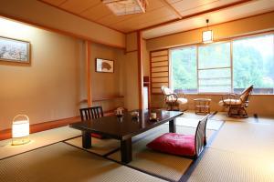 A seating area at Nozawa Grand Hotel