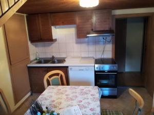 A kitchen or kitchenette at Paul-S Apartman
