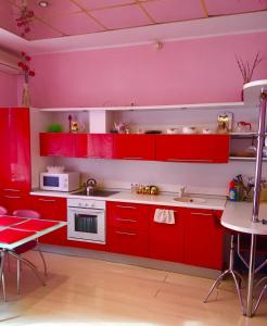 A kitchen or kitchenette at TownHouse Tszh ShiShMa