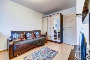 Гостиная зона в Apartment Vesta Ladozhskiy vokzal