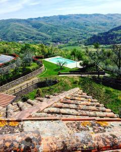 Vista aerea di Borgo d'Usciano