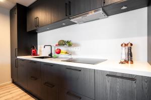 A kitchen or kitchenette at H96 Luxury Suite
