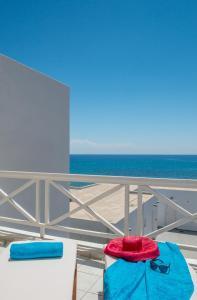 A balcony or terrace at Golden Milos Beach