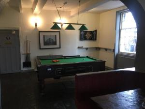 A billiards table at The Cross Keys Hotel