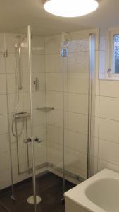 A bathroom at Eriks Bädd och Pentry