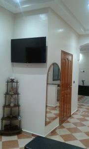 A television and/or entertainment center at Riad Le palais