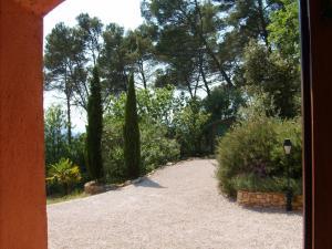A garden outside The Provence Villa