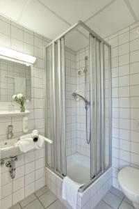 Ein Badezimmer in der Unterkunft Ev.Familienferien-und Bildungsstätte Ebernburg
