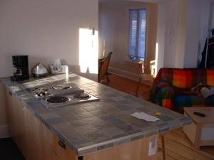 Cuisine ou kitchenette dans l'établissement L'Ardoisiere