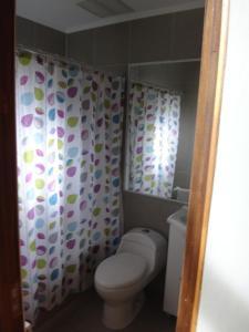 A bathroom at Condominio Bosque Queule