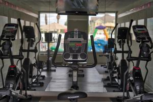 The fitness centre and/or fitness facilities at Magic Moment Resort and Kids Club